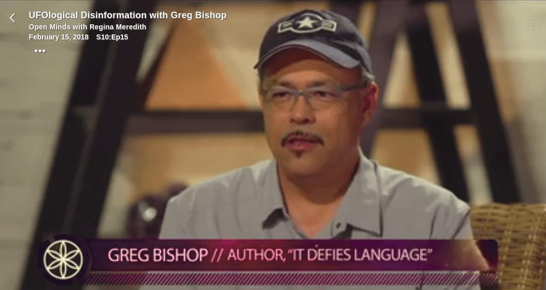 UFOlogical Disinformation with Greg Bishop